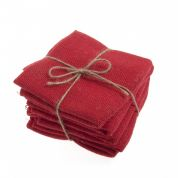 Hessian Fabric Fat Quarter  Red