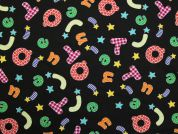 Pure Cotton Fabric  Black Multi