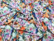 Floral Digital Print Stretch Jersey Dress Fabric  Multicoloured