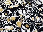 Soft Touch Jersey Knit Fabric  Black White Beige