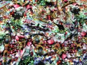 Abstract Print Viscose Dress Fabric  Multicoloured on Black