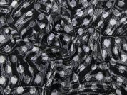 Spotty Print Stretch Lace Dress Fabric  Black & White