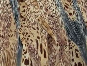 Animal Print Polyester Georgette Dress Fabric  Brown & Grey