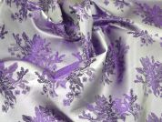 Floral Woven Brocade Dress Fabric  Lilac