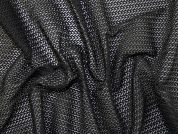 Geometric Herringbone Design Lace Dress Fabric  Black