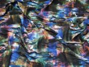 Textured Jersey Knit Fabric  Multicoloured