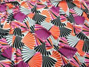 Shells Print Stretch Jersey Dress Fabric  Multicoloured
