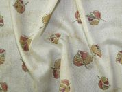 Printed Muslin Fabric  Cream