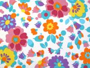 Floral Print Polycotton Dress Fabric  Multicoloured