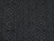 Textured Brocade Fabric  Black