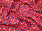 Cute Birds Print Cotton Needlecord Dress Fabric  Multicoloured