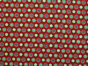 Pure Cotton Fabric  Red & Green