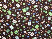 Pure Cotton Fabric  Brown