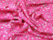 Princess Crowns Print Cotton Poplin Fabric  Pink