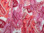 Printed Georgette Fabric  Pink