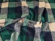 Wool Blend Coating Fabric  Beige, Navy & Green