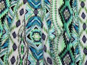 Printed Crepe Fabric  Green