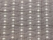 Quilting Diamond Check Heavy Dress Fabric  Brown