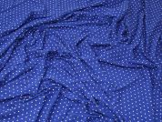 Spotty Jersey Knit Fabric  Royal Blue