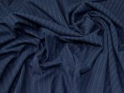 Brushed Ponte Roma Knit Fabric  Navy Blue