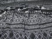 Aztec Jersey Knit Fabric  Black & Grey