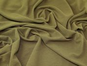 Textured Jersey Knit Fabric  Khaki Green