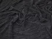 Pleated Satin Fabric  Black