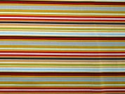 Rainbow Stripe Print Cotton Dress Fabric  Multicoloured