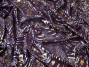 Animal Foil Print Georgette Dress Fabric  Purple