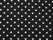 Spotty Print Cotton Dress Fabric  Black & White