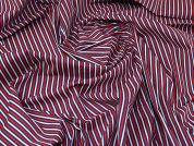 Stripe Polycotton Fabric  White, Red & Navy