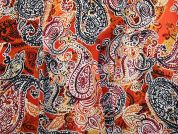 Printed Georgette Fabric  Orange