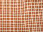 Plaid Check Print Cotton Dress Fabric  Orange