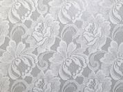 Floral Lace Fabric  White