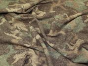 Wool Blend Coating Fabric  Brown & Green