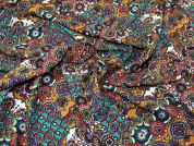 Viscose Challis Fabric  Multicoloured
