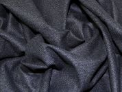 Grisagila Wool Blend Tweed Coating Dress Fabric  Black & Navy