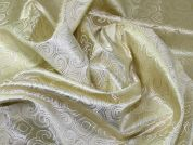 Regal Woven Metallic Brocade Dress Fabric  Gold
