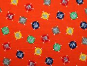 Cotton Needlecord Fabric  Orange