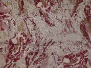 Metallic Brocade Fabric  Wine