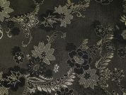 Metallic Brocade Fabric  Black & Gold