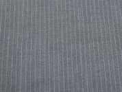 Pinstripe Soft Suiting Dress Fabric  Grey