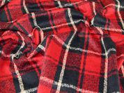 Wool Blend Coating Fabric  Midnight & Red
