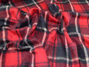 Wool Blend Coating Fabric  Navy & Red
