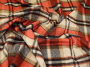 Wool Blend Coating Fabric  Orange & Tan