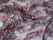 Feather Mesh Tulle Fabric  Multicoloured