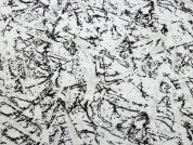 Abstract Print Stretch Jersey Dress Fabric  Black & White