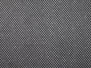 Lurex Honeycomb Fabric  Black & Silver