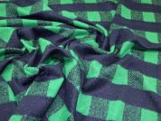 Wool Blend Coating Fabric  Navy & Green