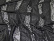Stripe Stretch Lace Fabric  Black